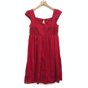 Anthropologie Maeve Red Cotton Dress - Size 2